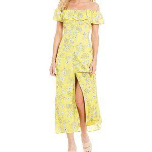 Gianni Bini Aida Floral Off Shoulder Button Dress